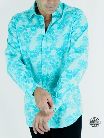 Hawaiian Shirt Blue-CYAN