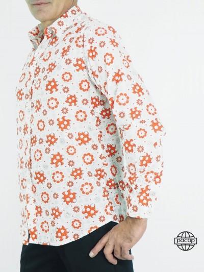 Chemise Blanche à Motif...