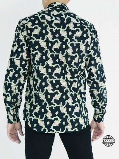 Chemise Vintage Noire à...