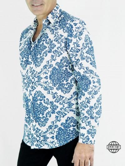 Blue Shirt Chic Cintrée and...