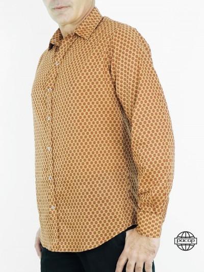 Shirt Shirt Coton Beige...
