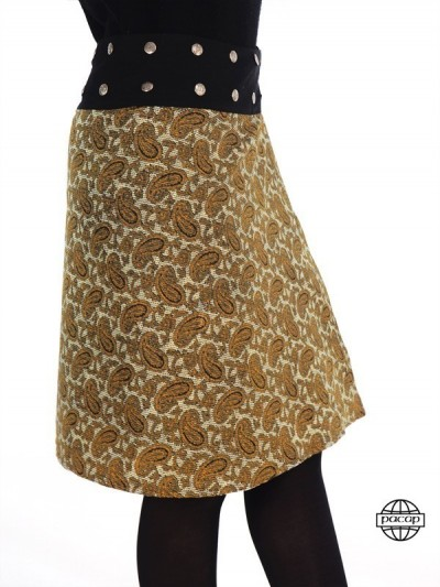 Skirt Velvet Frappé Orange...