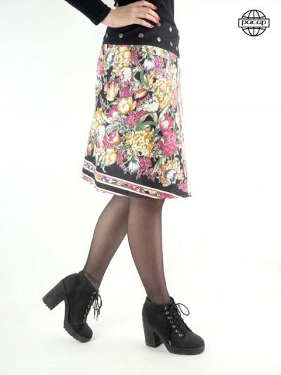 jupe imprimé graphique a fleurs