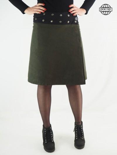 jupe longue en velours