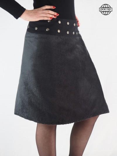 jupe cotelé longue