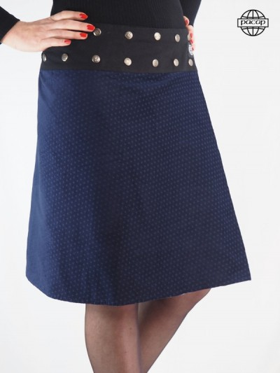 Blue Skirt Buttons Wired...