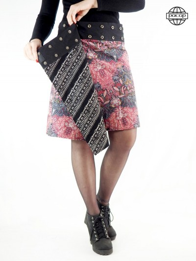 Ethnic skirt Length Genoux...