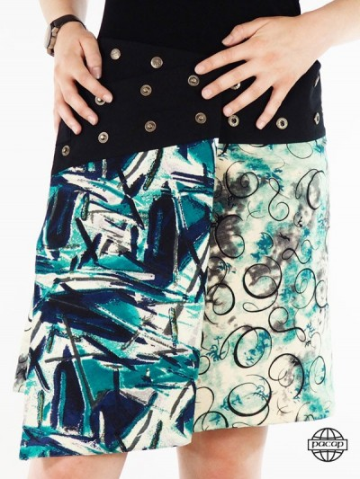 Skirt Verte in Silk Abstracted Portfolio