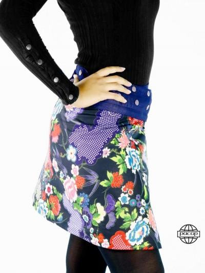 jupe jean bleu zippée taille unique femme