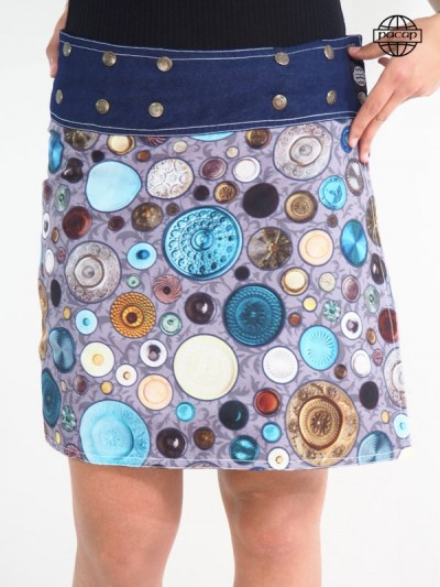 Edition Limited, Skirt Digital Printing Reason Rustic Multicolore