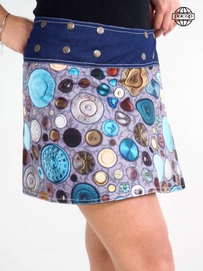 Edition Limited, Skirt Digital Printing Reason Rustic