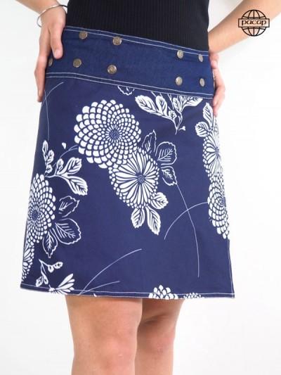 Skirt flared for women at Digitale Printing Ground Japanese Blue