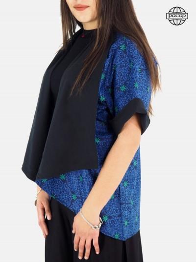 Vest kimono woman, loose jacket, blouse, printed jacket, woman shirt, reversible kimono
