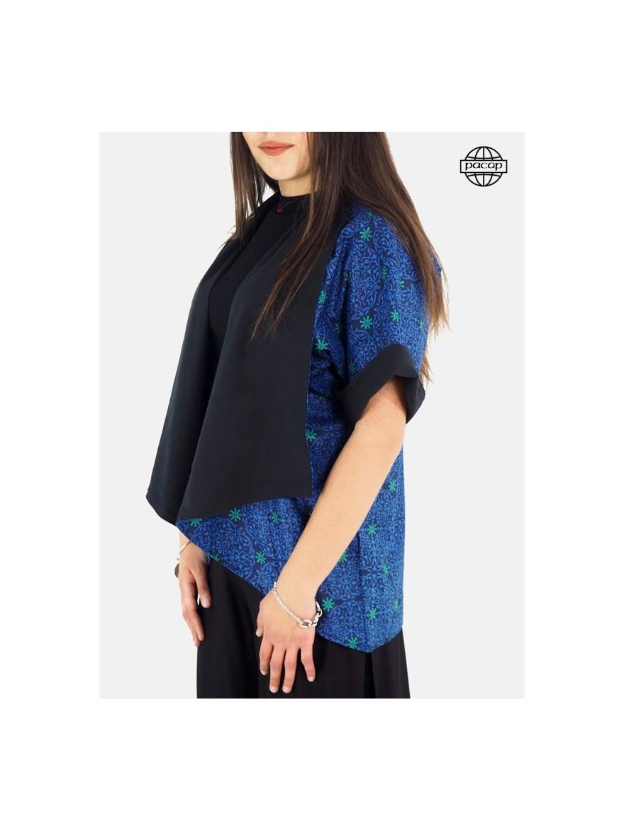 Veste kimono femme, veste ample, blouse, veste à imprimé, chemise femme, kimono réversible