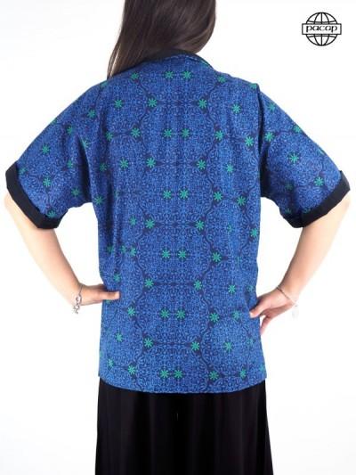 Veste kimono femme, veste ample, blouse, veste à imprimé, chemise femme, kimono réversible, veste été femme