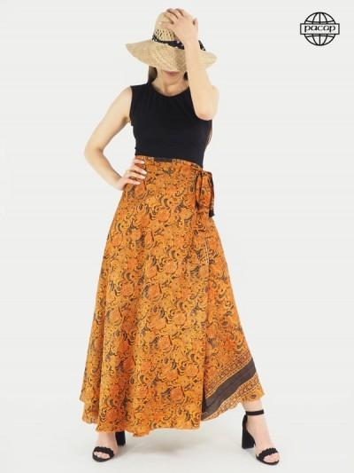 Jupe longue, jupe soie, jupe été, jupe à nouer, jupe femme, jupe à volants, jupe portefeuille