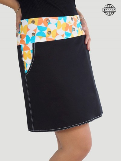 Pocket skirt pressure button French printed high definition wallwallet and reversible