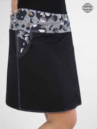 Pocket skirt with high qualite finish and print