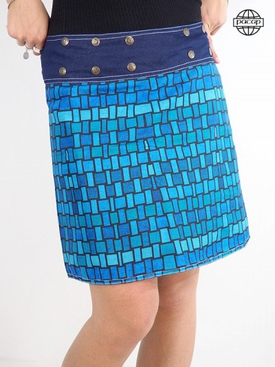 Blue skirt wallet collection female