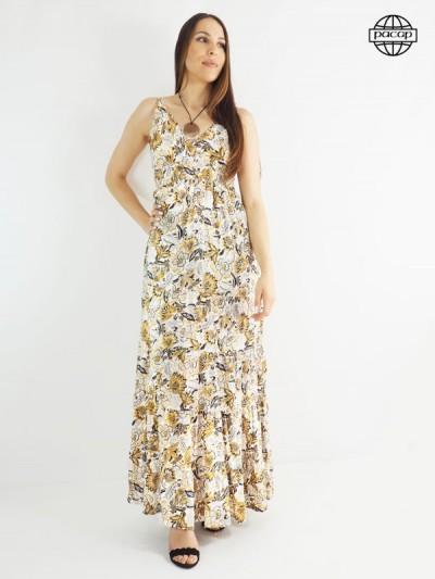 Robe longue, robe ample, robe d'été, robe femme, robe blanche, robe beige