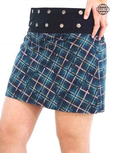Jupe été, jupe femme, jupe à carreaux, jupe courte, jupe réversible, jupe portefeuille