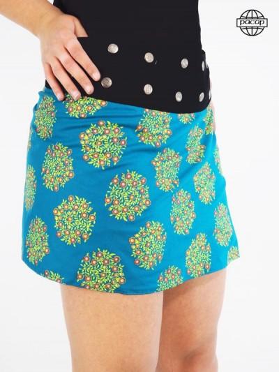 Summer skirt, female skirt, original skirt, short skirt, skirt wallets, reversible skirt, blue skirt, green skirt