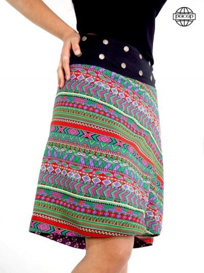 Jupe longue, jupe taille haute, jupe ethnique, jupe colorée, jupe portefeuille, jupe été, jupe femme, jupe originale