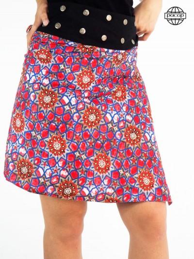 Original mandala red skirt