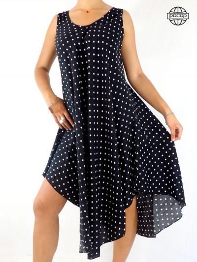 Dress in Bretelles at Pois Blanc on Fond Noir