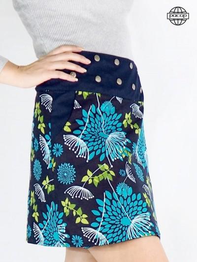 Jupe Grande Taille portefeuille en jean