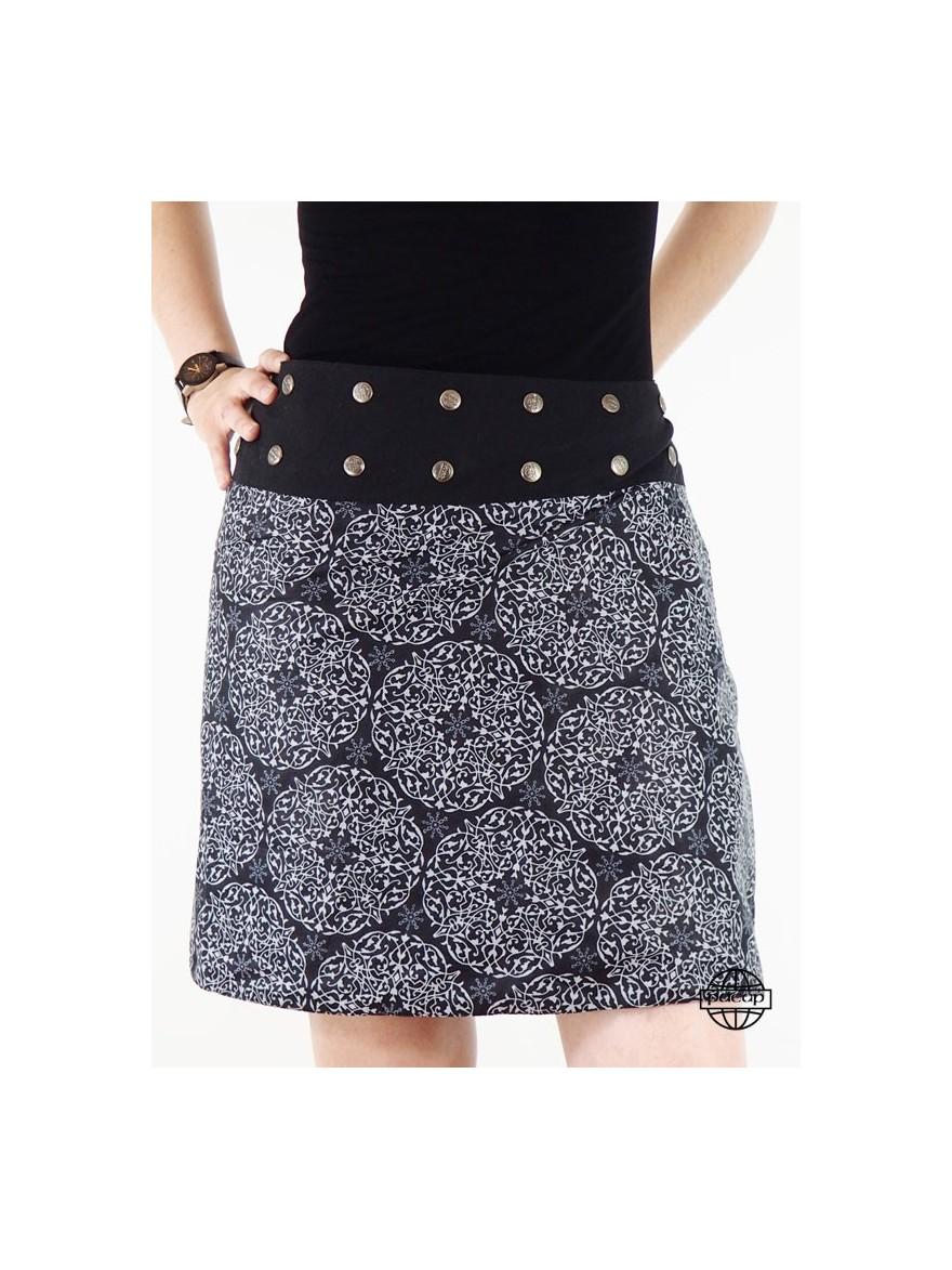 Skirt Skier Reason Ethnic Gris Reversible-SALLY