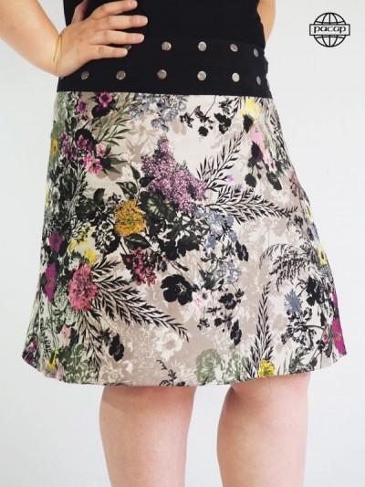 Skirt Summer Woman Forte Reversible Impressed Floral-DENITSA