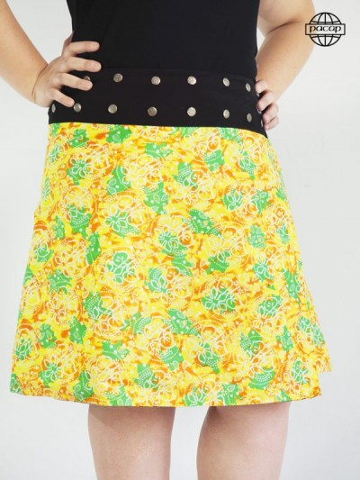 grossiste Jupe Grande Taille Imprimé Fleuri Multicolore Taille Unique