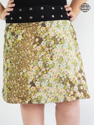 Skirt Grosse (Kits) Long Portfolio Fleurie Large Black Belt Buttons French Brand Leader