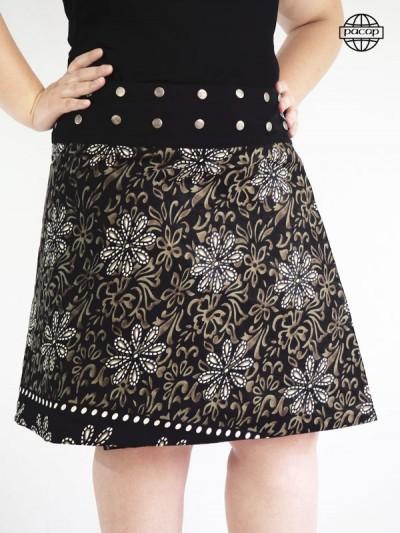 Skirt Future Maman Trapèze Ceinture Boutonné Reason Bohemia in Coton Brand French Responsible Officer