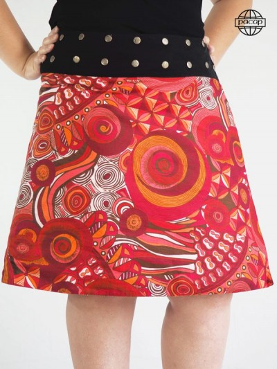Trapeze skirt round size fancy colored fancy
