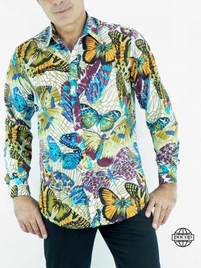 chemise papillon