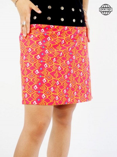 jupe ethnique orange pour femme