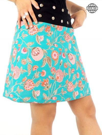 jupe turquoise pour femme taille unique
