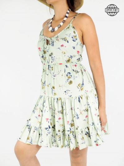robe courte avec finitions volant